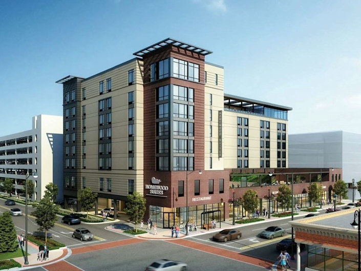 In December, the Skokie Village Board approved a development agreement to build a 142-room hotel and conference center at 4930 Oakton St. (via Village of Skokie)