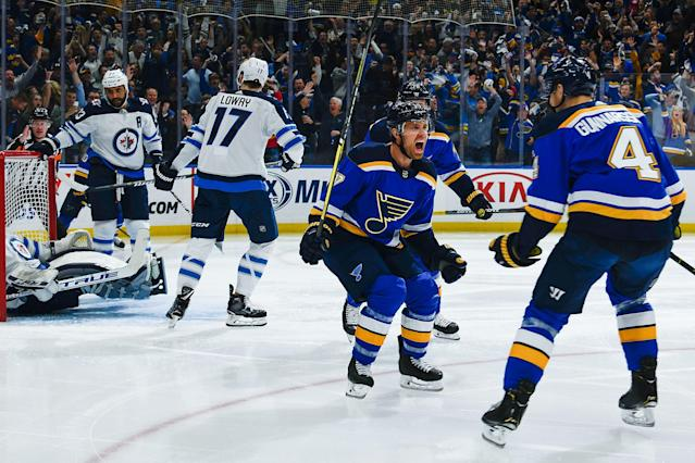 Jaden Schwartz, man. (Getty)