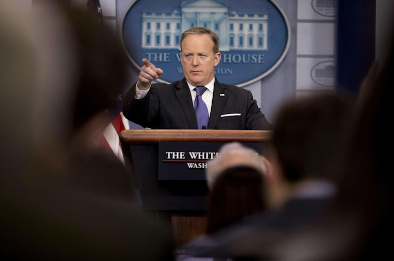Mr Spicer has become become a Washington DC celebrity: AP