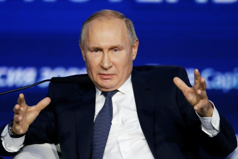 "Russian President Vladimir Putin said ""disdaining such a clean hydrocarbon as gas is absolutely strange"""
