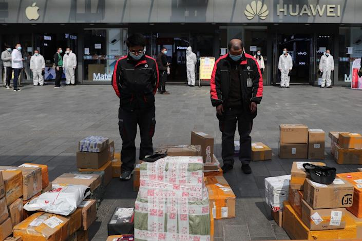 china silence delivery workers