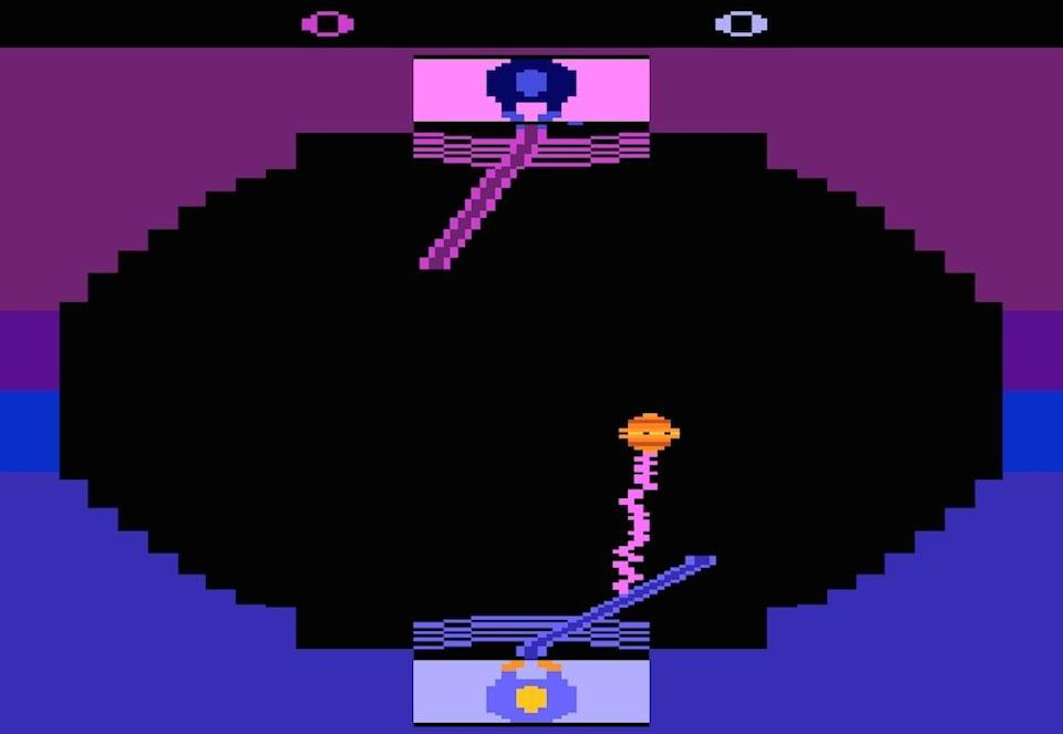 """<p>Remember that scene in the first <i>Star Wars</i> where Luke practices his lightsaber skills against a little flying drone? Parker Brothers turned that into a game for the Atari 2600. A bad game. You can even — <a href=""""https://archive.org/details/atari_2600_star_wars_-_jedi_arena_paddle_1983_parker_brothers_rex_bradford_pb5000"""" rel=""""nofollow noopener"""" target=""""_blank"""" data-ylk=""""slk:sort of"""" class=""""link rapid-noclick-resp"""">sort of</a> — play it in your browser, but we don't recommend it lest you start wishing Darth Vader would come along and chop <i>your</i> hand off.</p>"""