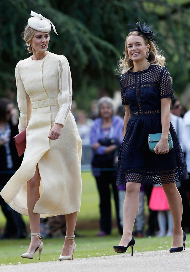 James Middleton's on-off girlfriend Donna Air (left). Source: Getty