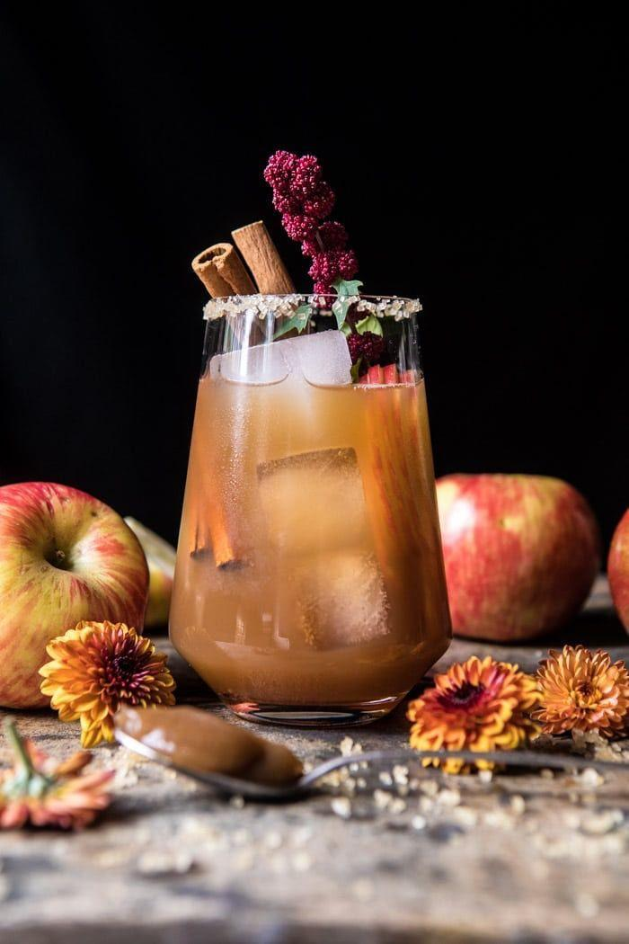 """<p>This classic drink gets an update with apple butter, cider, and ginger beer, which captures all the flavors that make fall appealing.<br></p><p><a class=""""link rapid-noclick-resp"""" href=""""https://www.halfbakedharvest.com/apple-butter-old-fashioned/"""" rel=""""nofollow noopener"""" target=""""_blank"""" data-ylk=""""slk:GET THE RECIPE"""">GET THE RECIPE</a></p>"""