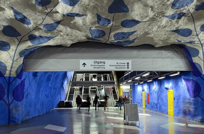 "<p>The Swedish famously have an eye on design, and the Swedish subway is effortlessly reflective of Sweden's progressive design aesthetics with modern sculptures, mosaics, and installations. In , the ""Tunnelbana"" is often considered the longest art exhibition in the world. Check out Kungstradgarden Station, inspired by the Makalos Palace.</p>"