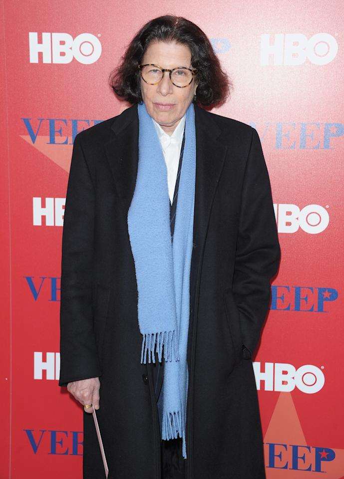 "NEW YORK, NY - APRIL 10:  Writer Fran Lebowitz attends the ""Veep"" screening at the Time Warner Screening Room on April 10, 2012 in New York City.  (Photo by Michael Loccisano/Getty Images)"
