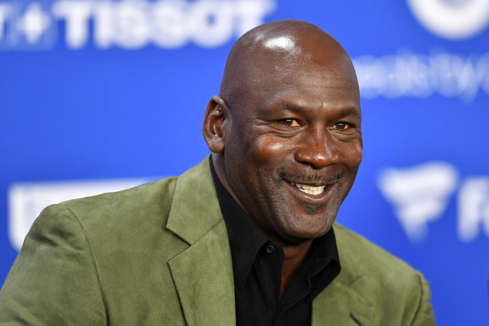 Michael Jordan's agent thinks MJ would have no problem dominating today's NBA. (Photo by Aurelien Meunier/Getty Images)
