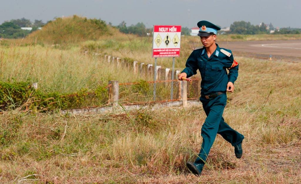 """The Bien Hoa air base is said to be the """"largest remaining hotspot"""" of contamination"""