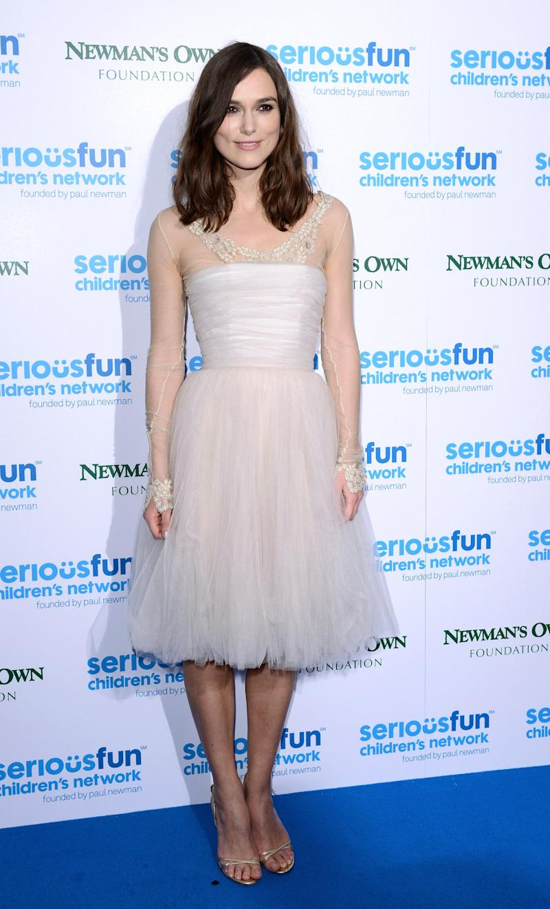 LONDON, ENGLAND - DECEMBER 03: Keira Knightley attends the SeriousFun London Gala 2013 at The Roundhouse on December 3, 2013 in London, England.The Serious Fun Children's Network is a growing community of camps and programs serving children with serious illnesses and their families and was set up by Paul Newman in 1988. (Photo by Karwai Tang/WireImage)
