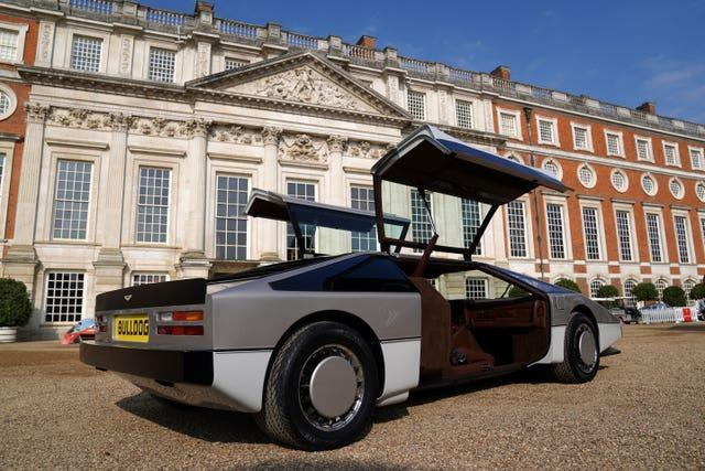 The car is unveiled at Hampton Court Palace