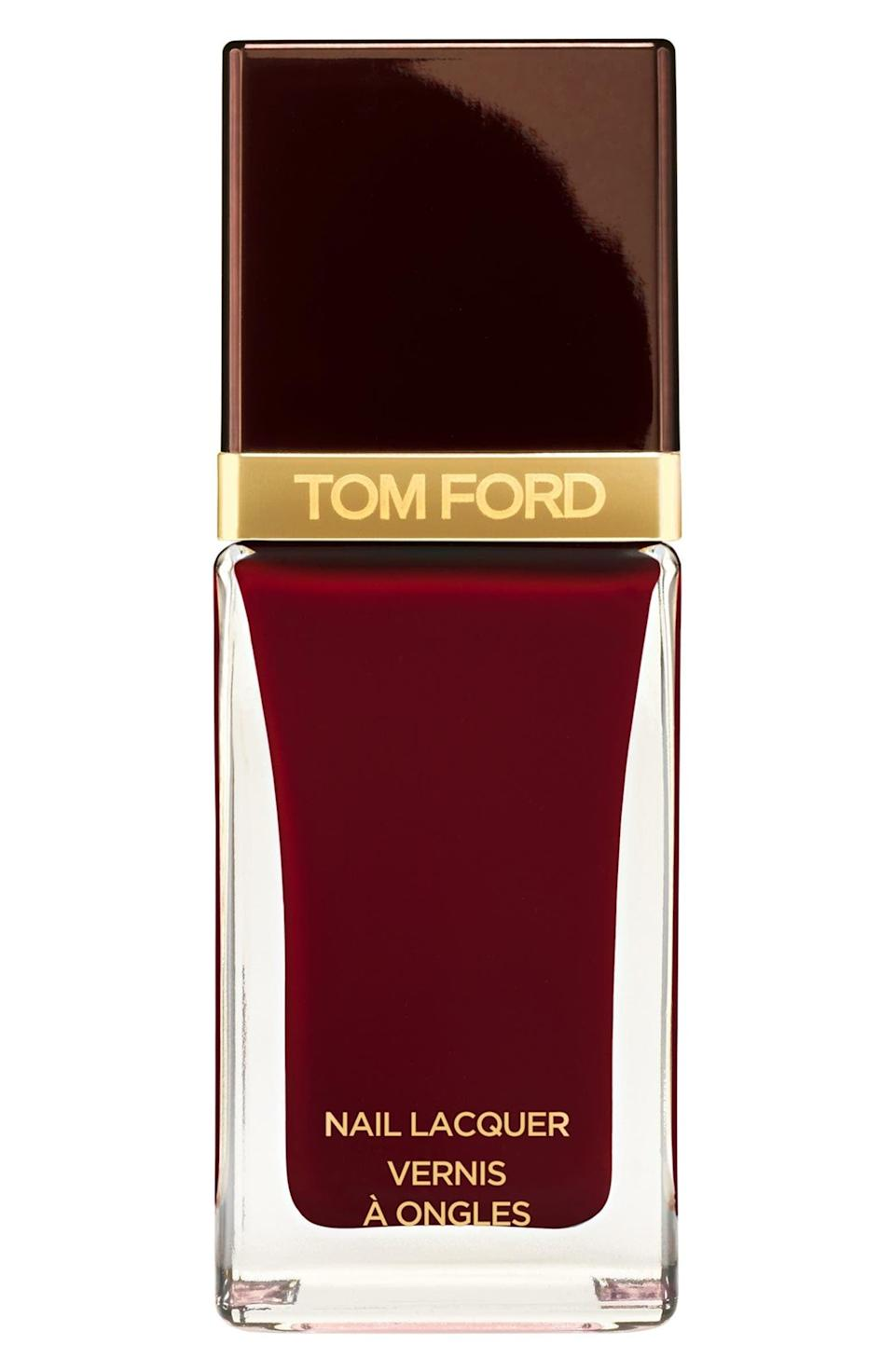 <p><span>Tom Ford Nail Lacquer in Bordeaux Lust</span> ($37)</p>