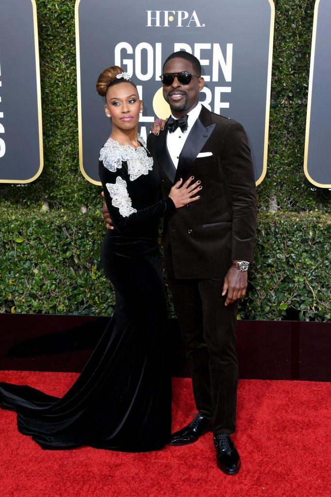 <p>Ryan Michelle Bathe and Sterling K. Brown attend the 76th Annual Golden Globe Awards at the Beverly Hilton Hotel in Beverly Hills, Calif., on Jan. 6, 2019. (Photo: Getty Images) </p>