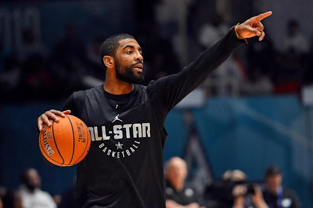 Boston Celtics point guard Kyrie Irving was one of the coaches for Team USA in Friday night's 2019 NBA All-Star Rising Stars game in Charlotte, and he seemed to enjoy the experience quite a bit, especially the chance to coach teammate Jayson Tatum.