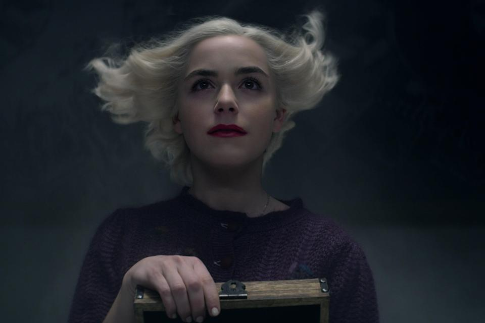 <p>Part four of this wicked take on <em>Sabrina</em> drops on New Year's Eve. If you can't be at a party, getting spooked by Kiernan Shipka and company (for the last time!!!) is the next best thing. </p> <p><em>Available on Netflix</em> </p>