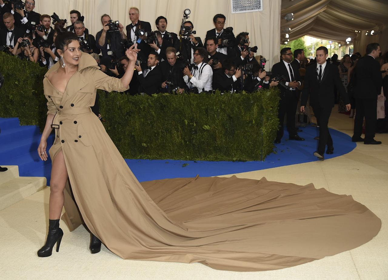 <p>Priyanka Chopra attends The Metropolitan Museum of Art's Costume Institute benefit gala celebrating the opening of the Rei Kawakubo/Comme des Garçons: Art of the In-Between exhibition. Photo – AP </p>