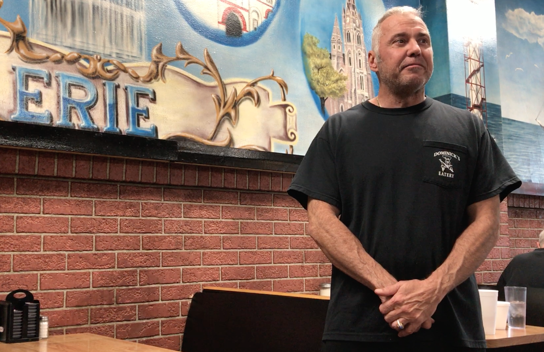 Bill Rieger, owner of Dominick's Eatery in Erie, Pa. (Photo: Eric Thayer for Yahoo News)