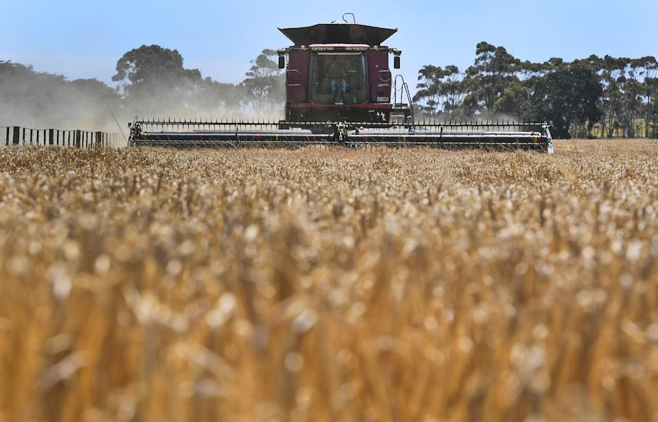 Aussie farmers have been hit hard in the trade spat. Source: Getty