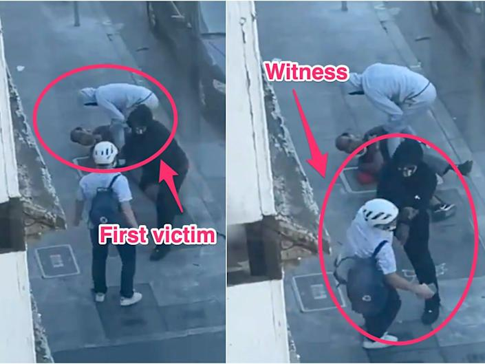 Video shows two men being pistol-whipped by armed robbers
