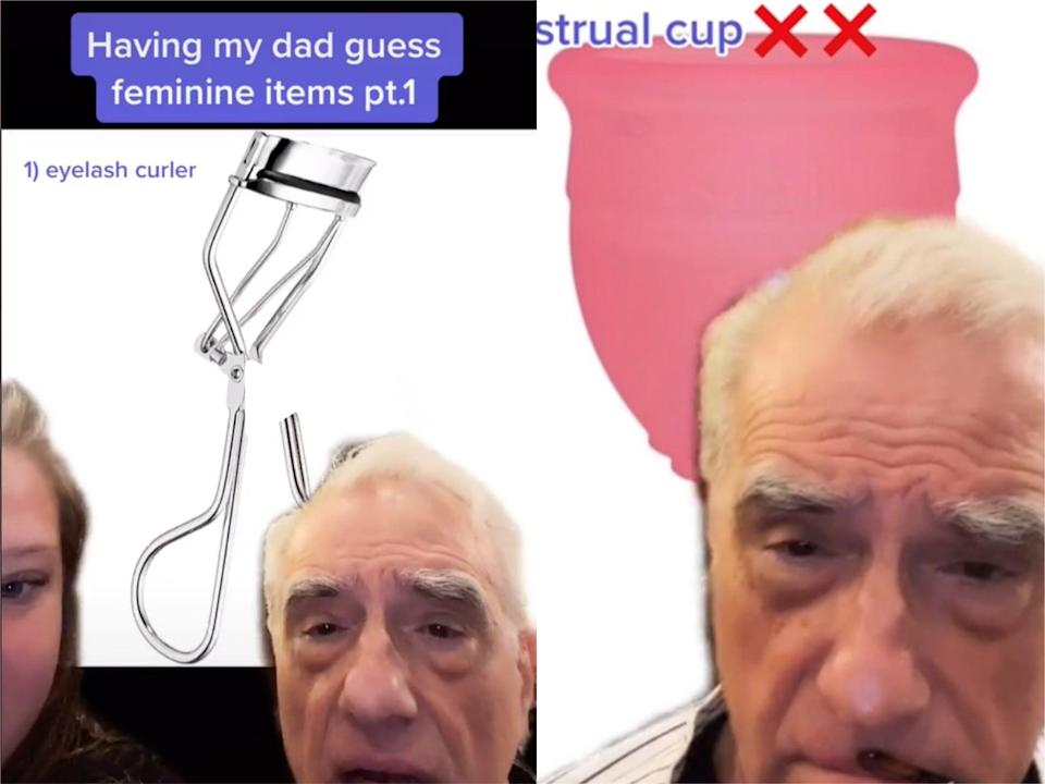 <p>Martin Scorsese goes viral in video with daughter Francesca</p> (TikTok)