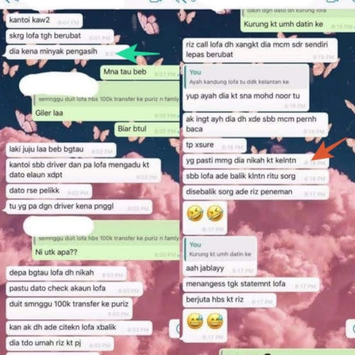 The said netizen uploaded a WhatsApp chat filled with baseless accusations