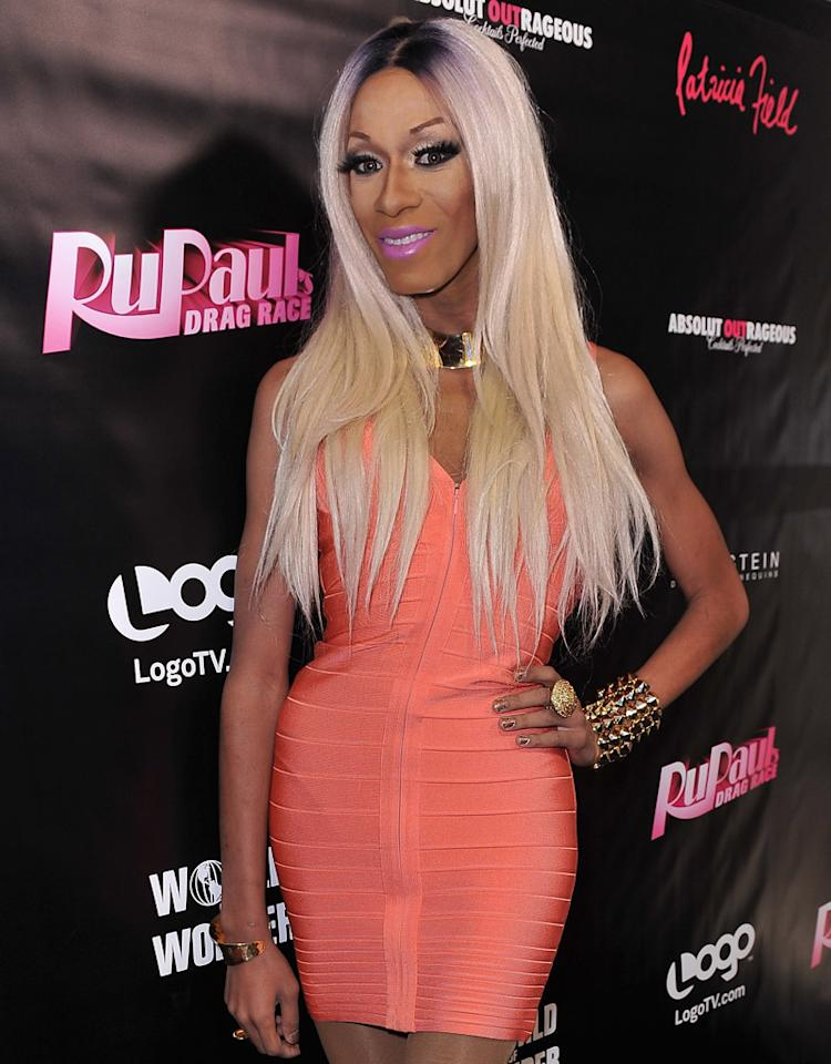 "NEW YORK, NY - JANUARY 18:  Sahara Davenport attends Logo's ""RuPaul Drag Race"" Premiere Party at Patricia Field Boutique on January 18, 2012 in New York City.  (Photo by D Dipasupil/Getty Images for Vh1)"