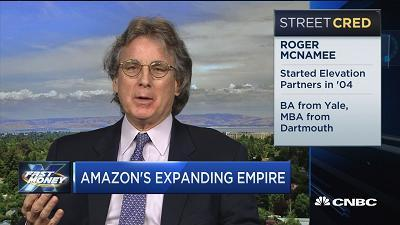 Roger McNamee, Elevation Partners co-founder, discusses what sector Amazon could disrupt next.