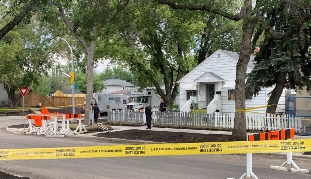 Police were called to a residence near 79th Street and 119th Avenue on Aug. 24, 2021.  (Craig Ryan/CBC News - image credit)
