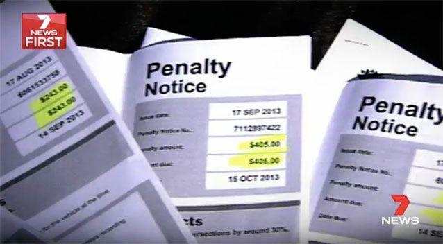 Some of the penalty notices. Source: 7News