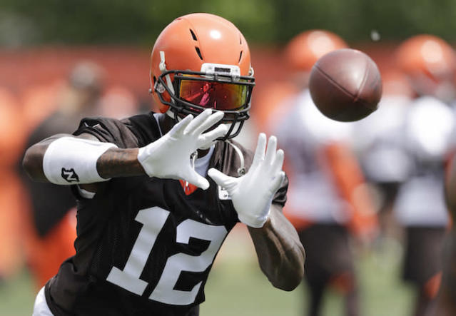 "On a rebuilt Cleveland team, wide receiver <a class=""link rapid-noclick-resp"" href=""/nfl/players/26561/"" data-ylk=""slk:Josh Gordon"">Josh Gordon</a> is clean, sober and fully prepared to succeed on the field again. (AP Photo/Tony Dejak)"