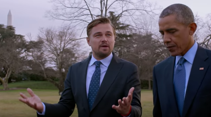Leonardo DiCaprio and President Obama in 'Before the Flood'