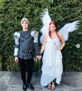<p>Lovebirds Darren Criss and Mia Swier dressed as perhaps one of the most famous couples in fictional history in 2017 when they celebrated Halloween as William Shakespeare's Romeo and Juliet.</p>