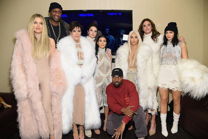 Kardashian-Jenner clan: Jenner shared the tribute online (Jamie McCarthy/Getty)