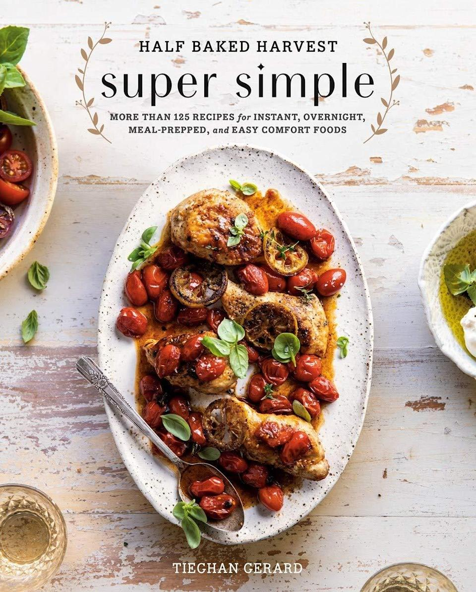 """For the avid home chef, you can't beat a good cookbook. Teighan Gerard (the blogger behind <a href=""""https://www.halfbakedharvest.com/"""" rel=""""nofollow noopener"""" target=""""_blank"""" data-ylk=""""slk:Half Baked Harvest"""" class=""""link rapid-noclick-resp"""">Half Baked Harvest</a>) released this collection of her favorite simple and delicious recipes, and it's a long-standing Amazon best-seller. $21, Amazon. <a href=""""https://www.amazon.com/dp/0525577076/ref=s9_acsd_al_bw_c2_x_2_t?pf_rd_m=ATVPDKIKX0DER&pf_rd_s=merchandised-search-7&pf_rd_r=55EEVZ1ZTSWAS91ARWW1&pf_rd_t=101&pf_rd_p=559f2981-872d-4292-9d90-7b125fea56df&pf_rd_i=6"""" rel=""""nofollow noopener"""" target=""""_blank"""" data-ylk=""""slk:Get it now!"""" class=""""link rapid-noclick-resp"""">Get it now!</a>"""