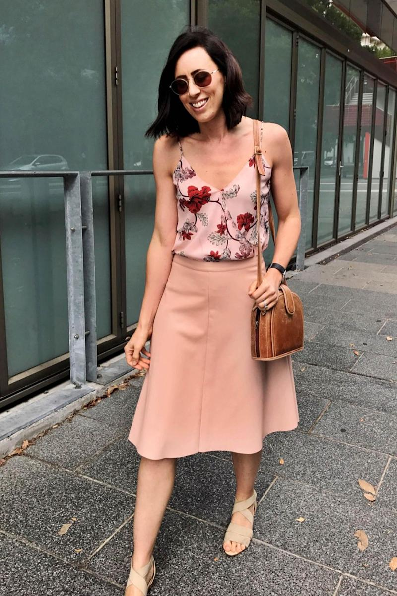 The mum of one tries to spend less than $5 per garment. Photo: Caters
