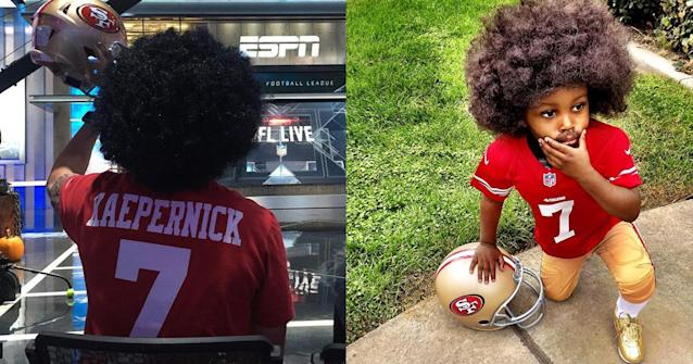 Colin Kaepernick costumes were all the rage on Halloween. (Instagram)