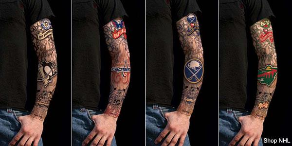 The NHL Fake Tattoo Sleeve: Potential sign of the apocalypse