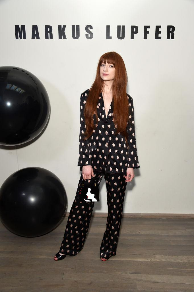 <p>Nicola Roberts has been dominating the FROW this season and she made sure to attend Markus Lupfer in a polka-dot co-ord. <em>[Photo: Getty]</em> </p>