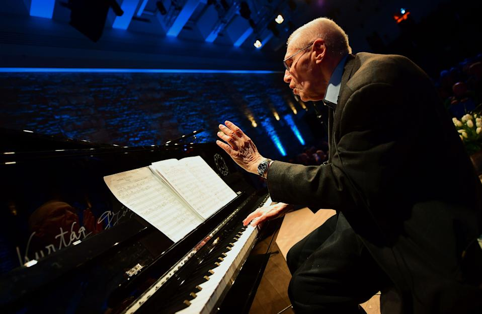 The enigmatic Gyorgy Kurtag composed 'Signs, Games and Messages', which is performed by Tabea Zimmermann on her CD (AFP via Getty Images)
