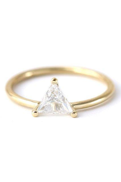 """<p><strong>Artemer</strong> Trillion Diamond Engagement Ring, $3,200, available at <a href=""""https://www.etsy.com/listing/260856627/trillion-diamond-engagement-ring-diamond?ref=shop_home_active_11"""" rel=""""nofollow noopener"""" target=""""_blank"""" data-ylk=""""slk:Etsy"""" class=""""link rapid-noclick-resp"""">Etsy</a>.</p>"""