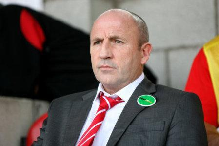 Accrington Stanley manager John Coleman prior to kick-off