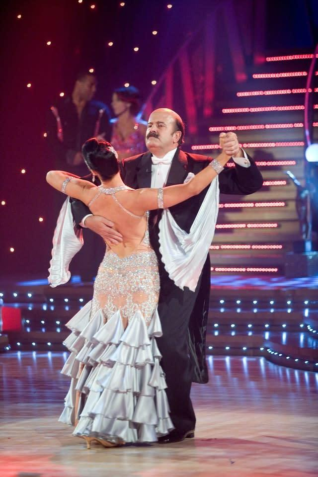 Willie Thorne performs with partner Erin Boag on Strictly Come Dancing (Handout/PA).