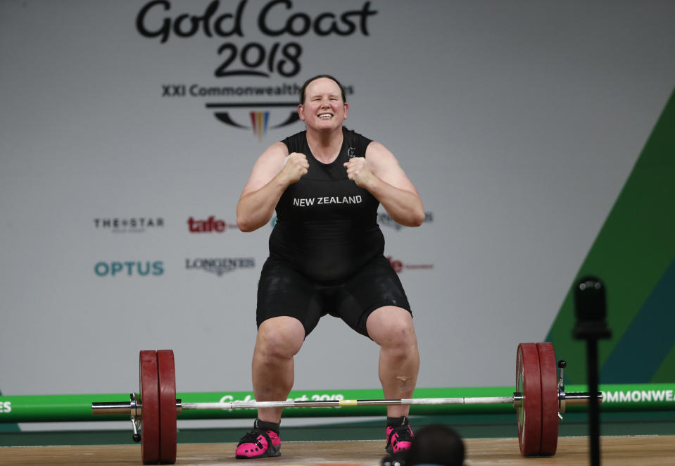 New Zealand weightlifter Laurel Hubbard will be the first openly trans athlete to compete in the Olympics. (REUTERS/Paul Childs)