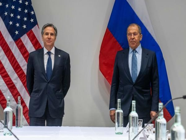 US Secretary of State Antony Blinken and Russian Foreign Minister Sergey Lavrov. (Photo credit: Twitter handle of US Secretary)