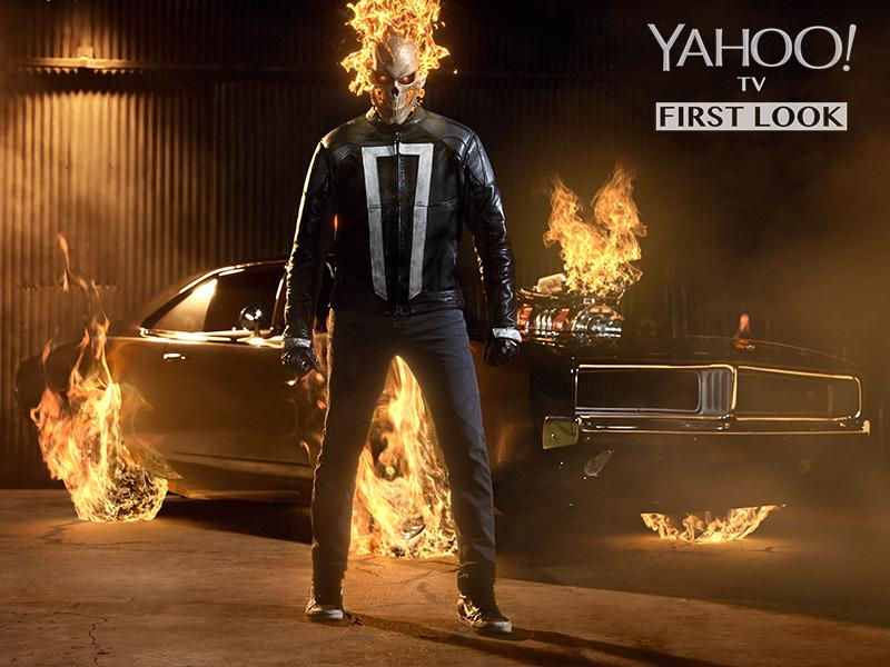 Marvels Agents Of Shield First Look See Ghost Rider In His