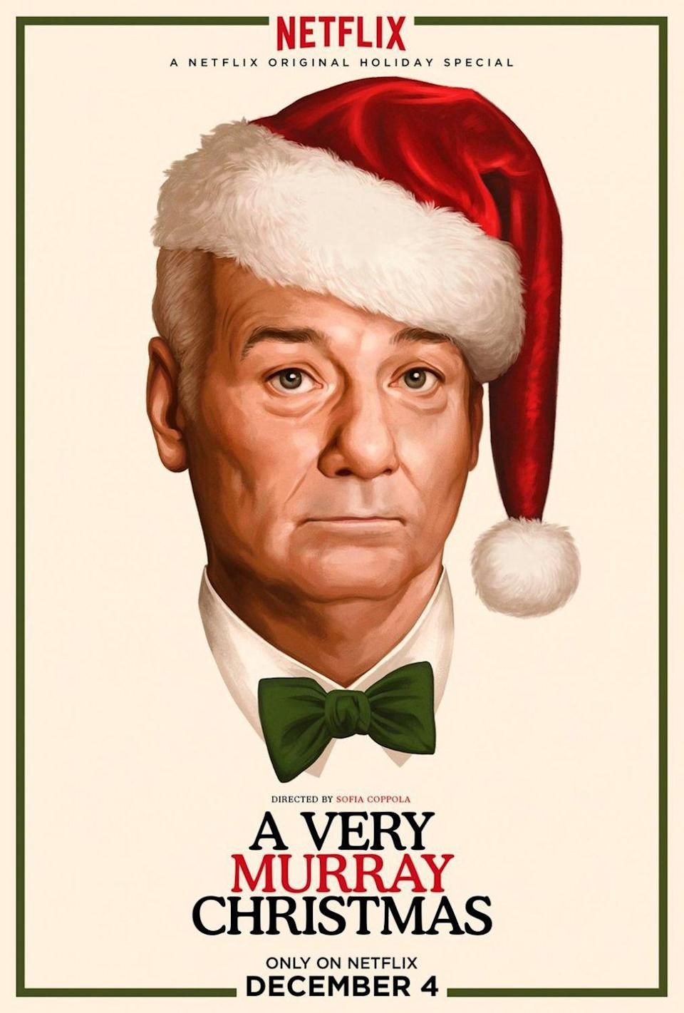 """<p>Every holiday could always use some more Bill Murray. With special guests <a href=""""https://www.womenshealthmag.com/food/a33915879/miley-cyrus-quit-vegan-diet/"""" rel=""""nofollow noopener"""" target=""""_blank"""" data-ylk=""""slk:Miley Cyrus"""" class=""""link rapid-noclick-resp"""">Miley Cyrus</a>, Phoenix, <a href=""""https://www.womenshealthmag.com/relationships/a34520810/amal-george-clooney-zodiac-sign-astrology-compatibility/"""" rel=""""nofollow noopener"""" target=""""_blank"""" data-ylk=""""slk:George Clooney"""" class=""""link rapid-noclick-resp"""">George Clooney</a>, and Chris Rock—just to name a few—<em>A Very Murray Christmas</em> is Murray at his best. His dancing-and-singing-and-drinking-until-he-passes-out-on-Christmas-Eve best.</p><p><a class=""""link rapid-noclick-resp"""" href=""""https://www.netflix.com/title/80042368"""" rel=""""nofollow noopener"""" target=""""_blank"""" data-ylk=""""slk:Watch Now"""">Watch Now</a></p>"""