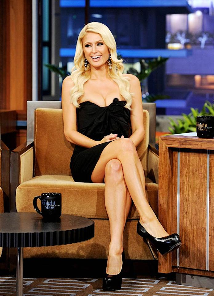 "Keeping with the blondes in black trend ... Paris Hilton was clad in the color when she sat down to promote her new reality series, ""The World According to Paris,"" on ""The Tonight Show."" Are you fond of her dark micro mini and sky-high platform pumps? Kevin Winter/Tonight Show/<a href=""http://www.gettyimages.com/"" target=""new"">GettyImages.com</a> - May 27, 2011"