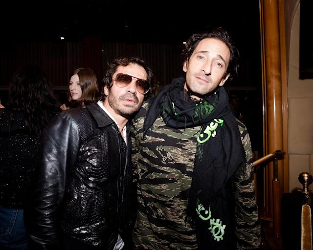<p>Olivier Zahm, Adrien Brody at Purple Magazine's 25th Anniversary on Top of the Standard, New York City, NY. (Photo: BFA) </p>