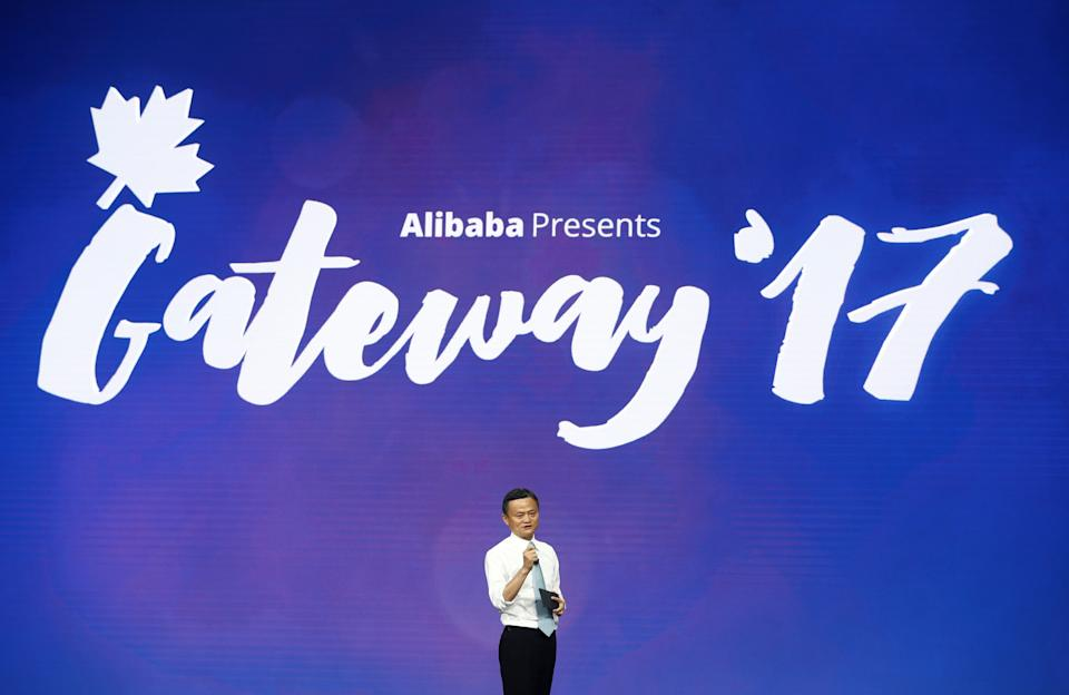 Jack Ma, Chairman of Alibaba Group, speaks at the Alibaba Gateway Conference in Toronto, Ontario, Canada September 25, 2017.    REUTERS/Mark Blinch
