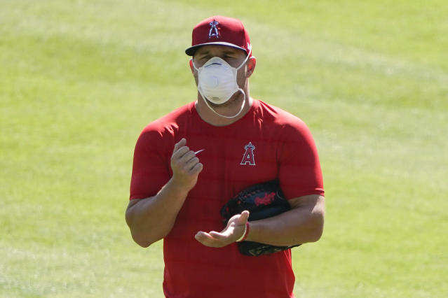 Angels superstar Mike Trout, the game's best player, has expressed concerns about playing in 2020 amid the coronavirus pandemic. (AP Photo/Ashley Landis)