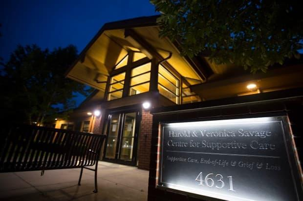 The Harold and Veronica Savage Centre for Supportive Care is pictured in Delta, B.C. The Delta Hospice Society, which used to operate the facility, was evicted from the building and the Irene Thomas Hospice in March, 2021.  (Jonathan Hayward/The Canadian Press - image credit)